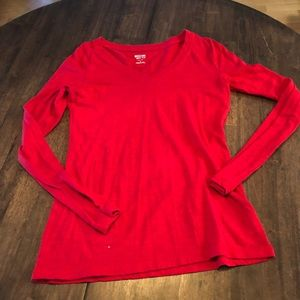 Women's Small Mossimo red Long sleeve shirt